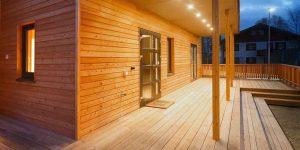 ساخت بناهای چوبی