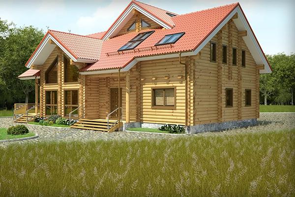 طراحی ویلای چوبی