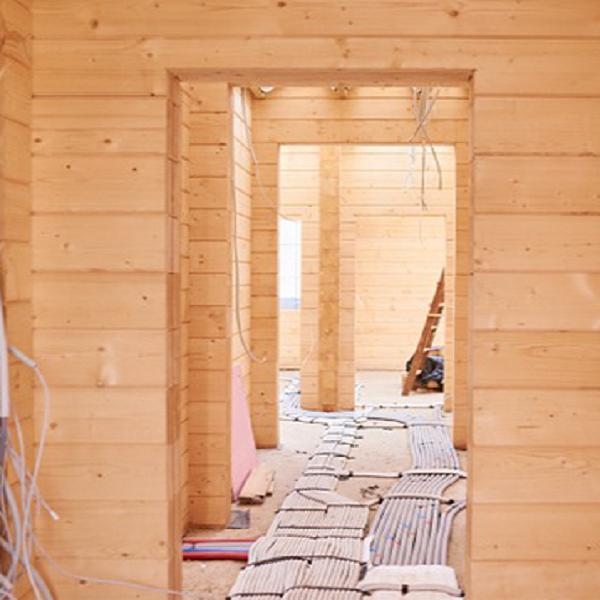نمای چوبی ویلا