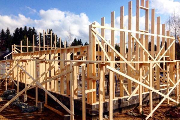 اسکلت خانه چوبی